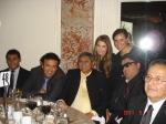 Durante la cena de Gala